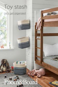 Room & Board - Kori Storage Baskets with Handles - Modern Organization Decor - Modern Home Decor