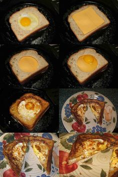 Double decker Egg in a Basket with cheese, I'm surprised I have never thought to do this :O