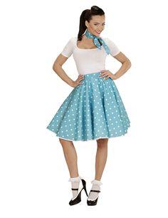 Disfraz años 50 azul turquesa puntos mujer a01d6a46d9f5
