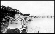 Bathing Huts on Beach, Southend on Sea, Essex. c.1910.