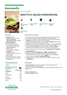 thermomix - Risotto z salsa pomidorowa Risotto, Make It Simple, Salsa, Food And Drink, Cooking, Kitchen, Gastronomia, Thermomix, Kitchens