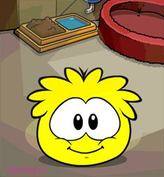 Club Penguin - Yellow Puffle, loves to paint, very active! Members only! 400 coins each!