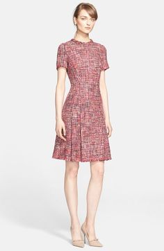 ESCADA Multicolor Tweed Dress available at #Nordstrom