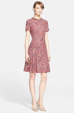 ESCADA Multicolor Tweed Dress available at #Nordstrom