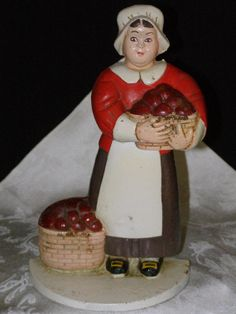 Vintage Cast Iron Door Stop Lady holding Basket of by parkie2, $192.75