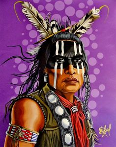 Charging Thunder by Riel Benn(award winning artist from the Birdtail Sioux First Nation,Southwestern Manitoba)