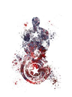Captain America ART PRINT illustration Superhero by SubjectArt | 8x10 | $12.12 not including shipping