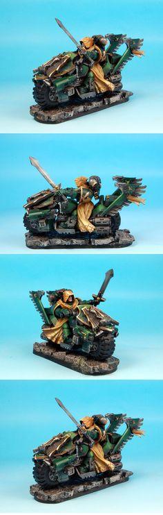 Dark Angels Ravenwing Master or Lord on bike