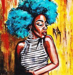 Confidence Print By Ria Ria Black Girl Art, Black Art, Art Girl, African American Art, African Art, Natural Hair Art, Thing 1, Afro Art, Illustration Art