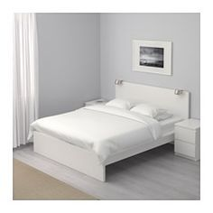 IKEA - MALM, Bed frame, high, Full,  , , Adjustable bed sides allow you to use mattresses of different thicknesses.