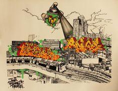 Very colourful piece of John Dolan