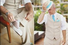 TIFFANY GROOMS ATTIRE | Groom Attire... Beach Wedding... Tiffany Blue Color