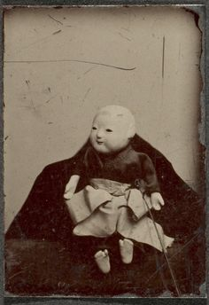 eastmanhouse: Japanese doll Unidentified ca. 1880 tintype Image: 2.5 x 1.7 cm Museum Collection