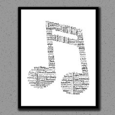 Music Note Print, Music Note, Art, Music Teacher, Print, Gift, Classical, Wall Decor, Wall Art, Nursery, Children, Kids, Orchestra, Band. $15.00, via Etsy.