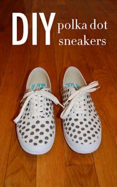 DIY Polka Dot Sneakers a la Kate Spade