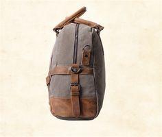 Canvas-and-Leather-Weekender-Bag-5 Rucksack Bag, Leather Backpack, Canvas Shoulder Bag, Weekender, Laptop, Backpacks, Bags, Handbags, Leather Backpacks