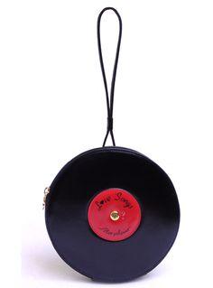 Unique, unusual and rare Moschino Record Shaped handbag   London Agent International