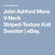 John Ashford Mens V-Neck Striped-Texture Knit Sweater