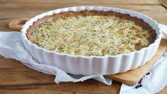 Dieser leckere Zwiebelkuchen mit Kastanien-/Mandelboden eignet sich hervorragend als Vorspeise - natürlich ohne Getreide und 100% Paleo!
