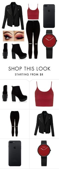 """Outfit #6"" by clothes-and-clothes ❤ liked on Polyvore featuring Topshop, New Look and LE3NO"