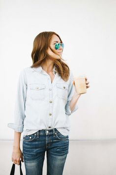 denim and green mirrored aviator sunglasses