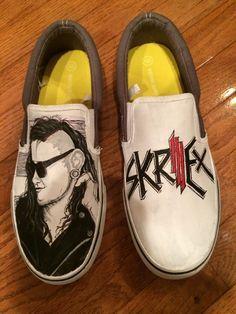 ee1792bc96 skrillex diy - Szukaj w Google Hand Painted Shoes