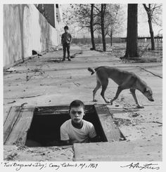 Two Boys and Dog, Coney Island, New York, 1969©Arthur Tress