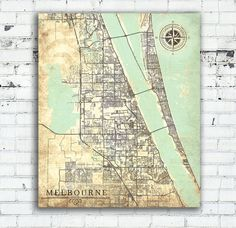 World map canvas print vintage light neutral pastel map world map melbourne canvas print florida fl vintage map melbourne city map florida vintage art melbourne fl poster retro antique old map united states gumiabroncs Gallery