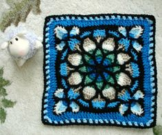 stained glass crochet square