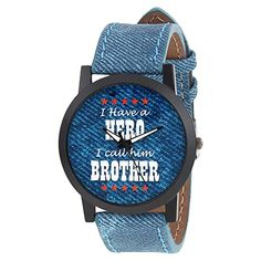 RELISH RE-S8103BD Denim Slim Analog Watch for Boys and Mens Best Gifts For Boys, Birthday Gifts For Boys, Buy Silver Coins, Buy Rakhi Online, Raksha Bandhan Gifts, Metal Pen, Mickey And Friends, At Home Gym, Sister Gifts