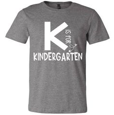 K is for Kindergarten Teacher Raglan or Tee - Kindergarten Shirt - Ideas of Kindergarten Shirt #kindergarten #shirts #kindergartenshirts - K is for Kindergarten Teacher Raglan or Tee Kindergarten Teacher Shirts, Kindergarten Lesson Plans, Teacher Outfits, Teacher Gifts, Teacher Clothes, Teacher Stuff, School Fun, School Ideas, School Stuff
