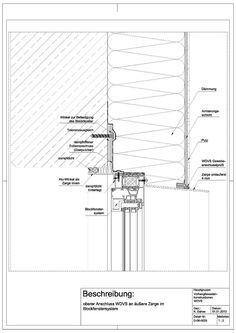 Upper block window connection with outer and inner frame on Ancient Architecture, Contemporary Architecture, Architecture Details, Drawing Architecture, Dark Drawings, Detailed Drawings, Architectural Engineering, Architectural Drawings, Window Detail