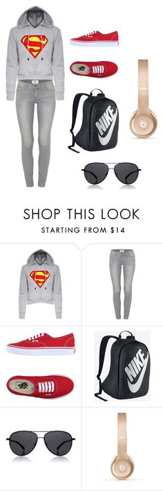 """""""Hang out clothes"""" by msowers33 ❤ liked on Polyvore featuring interior, interiors, interior design, home, home decor, interior decorating, Paige Denim, Vans, NIKE and The Row"""
