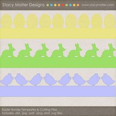 Free Easter Border Templates and Digital Cutting Files