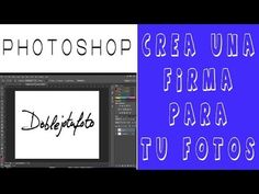 Crea una firma para tus fotos en Photoshop. Doblejotafoto - YouTube