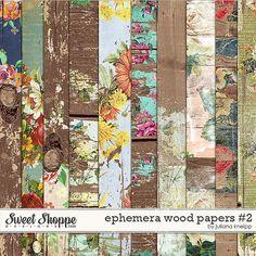 Ephemera wood papers #2 by Juliana Kneipp