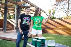 Better bring your A-game to St Patrick's Day this year.  #beerpong #leprechaun #stpaddysday