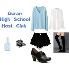 """Ouran Uniform"" by casualanime on Polyvore"