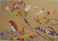 fuyuzakura ni akahige (fuyu)  Winter-flowering Cherry and Ryukyu Robin (Winter)