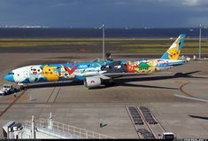 All Nippon Airways ANA POKEMON Boeing 777-381 aircraft picture