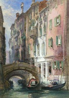 """William Callow 1812-1908) - """"Venice"""""""