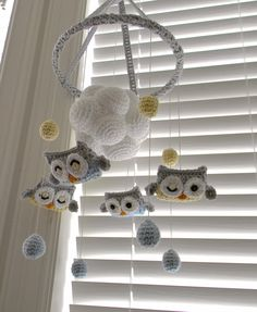 I NEED THIS! Owl crochet Mobile by ProudChildCrochet on Etsy, $95.00