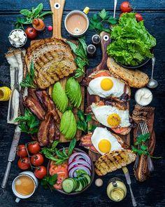 Food And Drink Breakfast - Recipes Breakfast Platter, Breakfast Recipes, Breakfast Sandwiches, Wine Recipes, Cooking Recipes, Healthy Recipes, Food Platters, Food Presentation, Food Inspiration