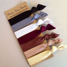 The Sienna Hair Tie-Ponytail Holder Collection - 7 Elastic Hair Ties by Elastic Hair Bandz on Etsy
