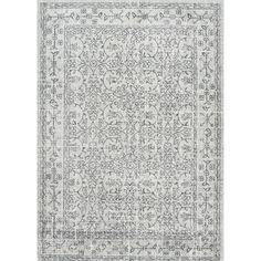 Vintage Pearlene Gray Area Rug by nuLOOM