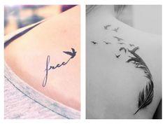 Tatuaggi con Significato di Libertà: Manta, Uccelli, Piuma e Soffione - Lei Trendy