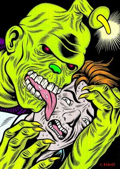 Monster Brains - Charles Burns Preview Image by Aeron Alfrey, via Flickr