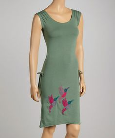 Love this Grass Hummingbird Layla Scoop Neck Organic Dress by Synergy Organic Clothing on #zulily! #zulilyfinds