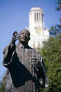 The Martin Luther King Jr. statue located in the East Mall of the University of Texas at Austin