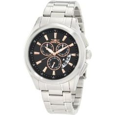 Invicta Men's 1976 Specialty Chronograph Black Dial Stainless Steel Watch (Watch)  http://xmarketer.com/view.php?p=B006DI1H8M  B006DI1H8M
